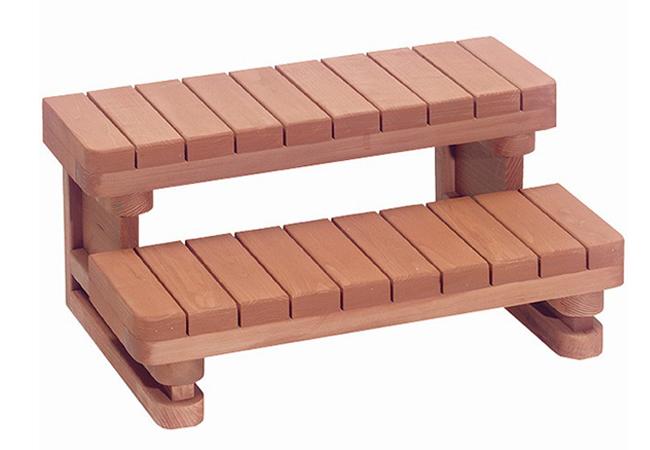 Wooden Hot Tub Steps